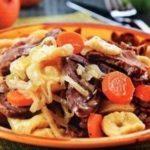 Куллама (халяльное мясо с овощами и салмой)