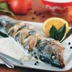 Рыбное тэбэ (запечённая рыба в сметане с луком)