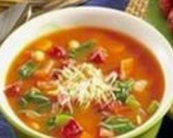 Суп гороховый с салмой и мясом