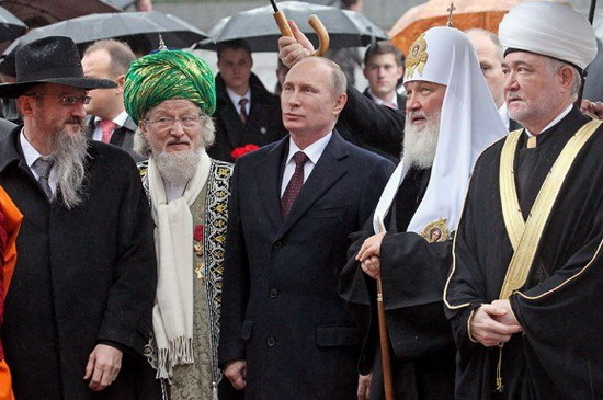 Талгат Сафа Таджуддин с духовными лидерами
