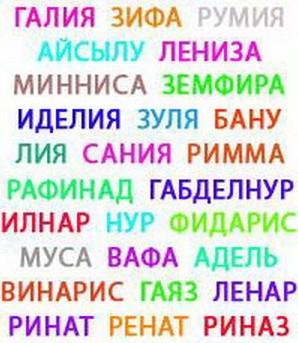 Татарские имена самые известные