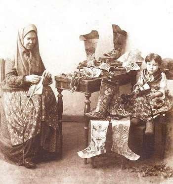 татарская узорная обувь